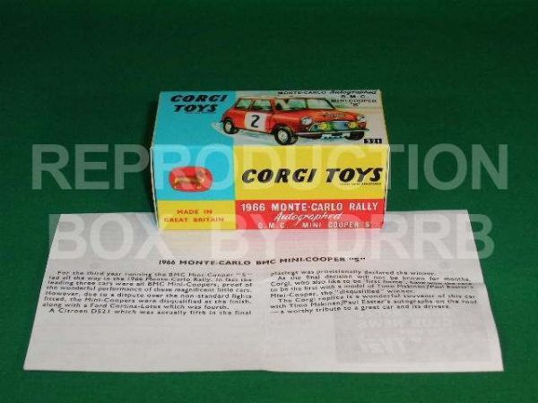 Corgi #321 Monte Carlo Mini Cooper - Reproduction Box